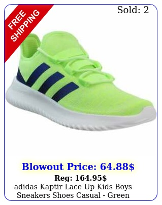 adidas kaptir lace up kids boys sneakers shoes casual  gree