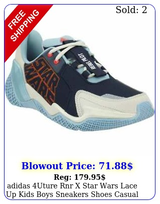 adidas uture rnr x star wars lace up  kids boys sneakers shoes casual