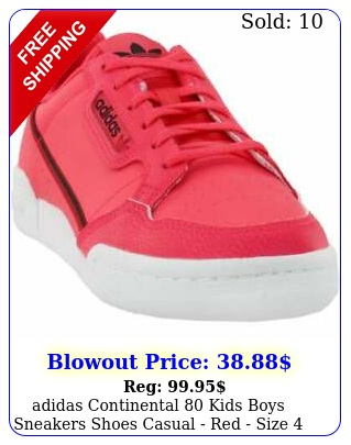 adidas continental kids boys sneakers shoes casual  red size
