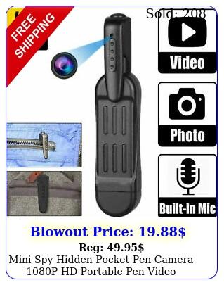 mini spy hidden pocket pen camera p hd portable pen video recorder dvr ca