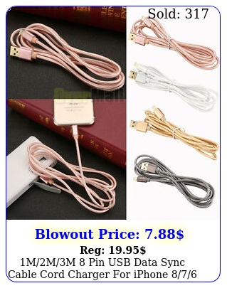 mmm pin usb data sync cable cord charger iphone support ios