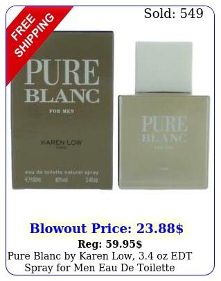 pure blanc by karen low oz edt spray men eau de toilett