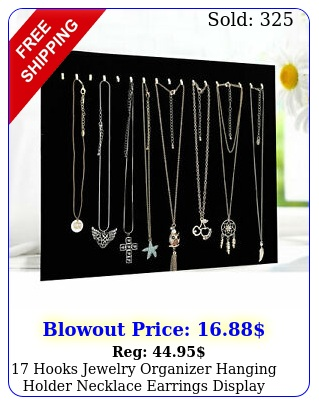 hooks jewelry organizer hanging holder necklace earrings display stand rac