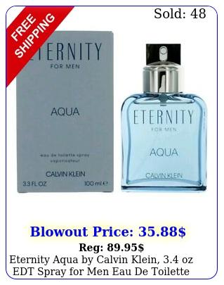 eternity aqua by calvin klein oz edt spray men eau de toilett