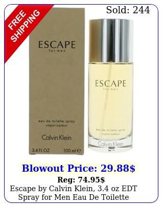 escape by calvin klein oz edt spray men eau de toilett
