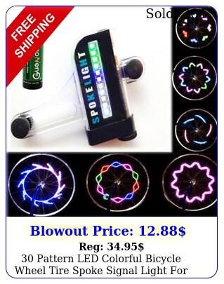 pattern led colorful bicycle wheel tire spoke signal light bike safet