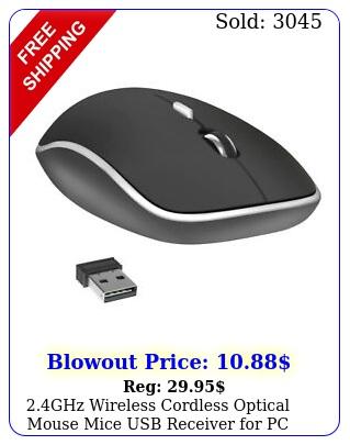 ghz wireless cordless optical mouse mice usb receiver pc laptop blac