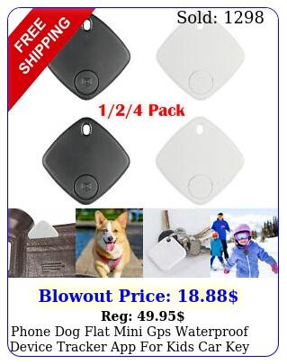 phone dog flat mini gps waterproof device tracker app kids car key locato