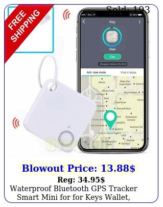 waterproof bluetooth gps tracker smart mini for keys wallet phone dogs us