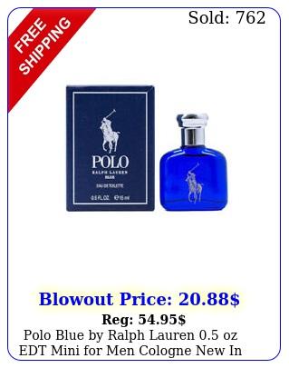 polo blue by ralph lauren oz edt mini men cologne i