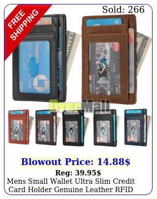 mens small wallet ultra slim credit card holder genuine leather rfid blockin