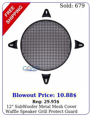 subwoofer metal mesh cover waffle speaker grill protect guard dj car audi