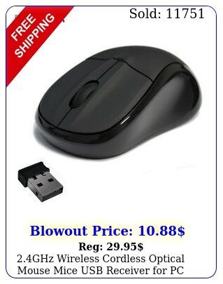 ghz wireless cordless optical mouse mice usb receiver pc lapto