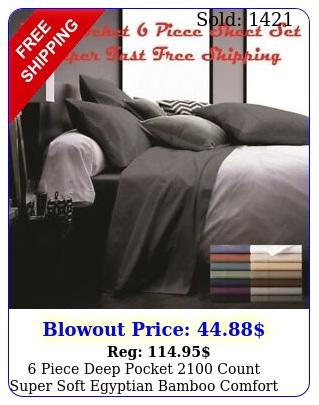 piece deep pocket count super soft egyptian bamboo comfort bed sheet se