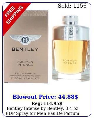 bentley intense by bentley oz edp spray men eau de parfu