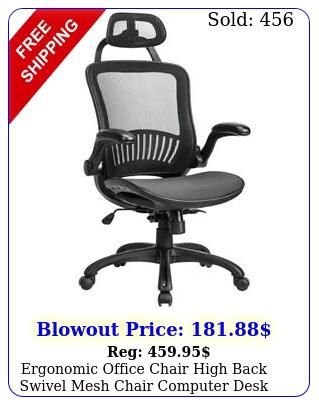 ergonomic office chair high back swivel mesh chair computer desk tas