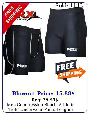 men compression shorts athletic tight underwear pants legging sport gym trainin