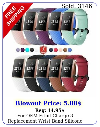 oem fitbit charge replacement wrist band silicone bracelet watch rate fi