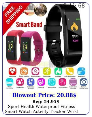 sport health waterproof fitness smart watch activity tracker wrist band bracele
