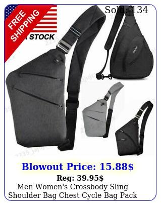 men women's crossbody sling shoulder bag chest cycle bag pack travel backpac