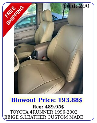 toyota runner beige sleather custom made fit front seat cover