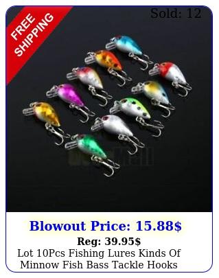 lot pcs fishing lures kinds of minnow fish bass tackle hooks baits crankbai