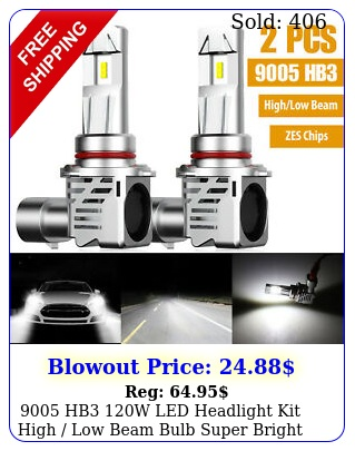 hb w led headlight kit high low beam bulb super bright k l