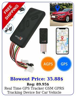 real time gps tracker gsm gprs tracking device car vehicle motorcycle bik
