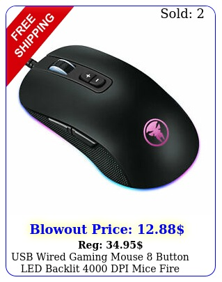 usb wired gaming mouse button led backlit dpi mice fire button desktop p