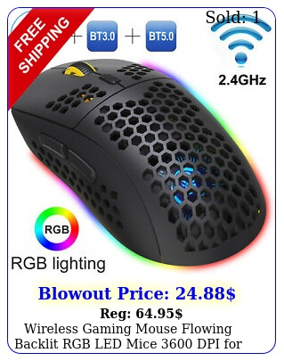 wireless gaming mouse flowing backlit rgb led mice dpi computer lapto