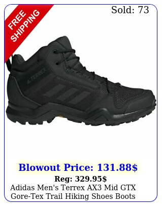 adidas men's terrex ax mid gtx goretex trail hiking shoes boots waterproo