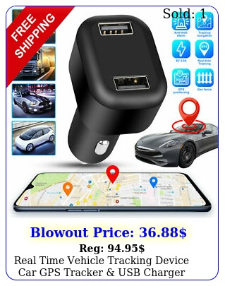 real time vehicle tracking device car gps tracker dual usb charger live audi