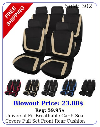 universal fit breathable car seat covers full set front rear cushion protecto