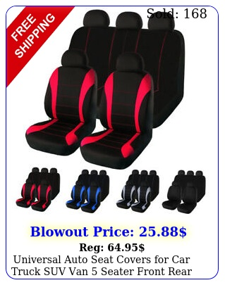 universal auto seat covers car truck suv van seater front rear protecto