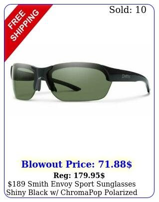 smith envoy sport sunglasses shiny black w chromapop polarized gree