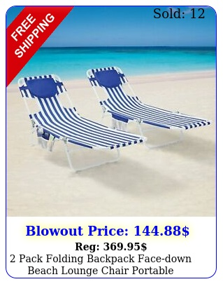 pack folding backpack facedown beach lounge chair portable camping outdoor