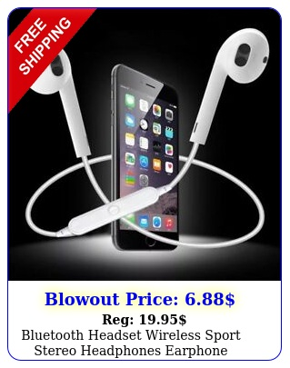bluetooth headset wireless sport stereo headphones earphone earbuds with mi