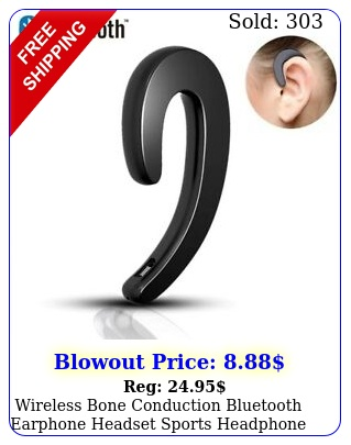 wireless bone conduction bluetooth earphone headset sports headphone with mi