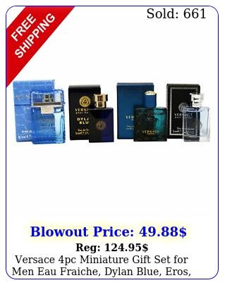 versace pc miniature gift set men eau fraiche dylan blue eros pour homm