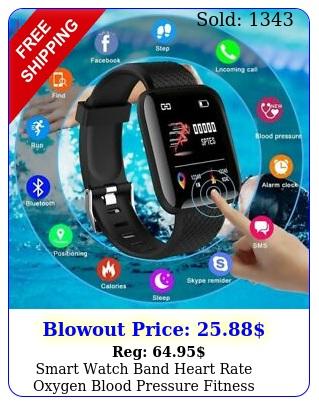 smart watch band heart rate oxygen blood pressure fitness tracker activity spor