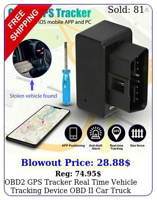 obd gps tracker real time vehicle tracking device obd ii car truck locator u