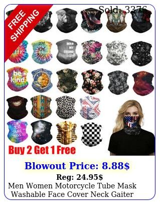 men women motorcycle tube mask washable face cover neck gaiter bandana scar