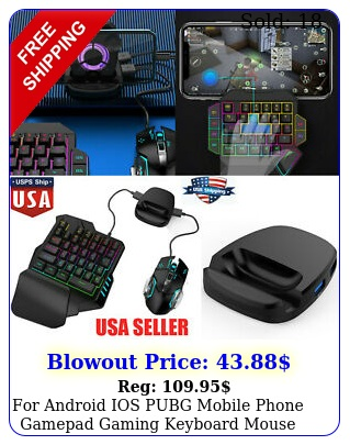 android ios pubg mobile phone gamepad gaming keyboard mouse converter holde