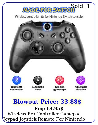 wireless pro controller gamepad joypad joystick remote nintendo switch blac