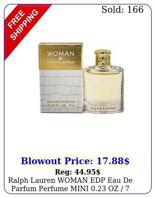 ralph lauren woman edp eau de parfum perfume mini oz  ml i