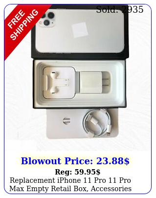 replacement iphone pro pro max empty retail box accessories manual optio
