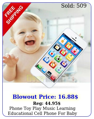 phone toy play music learning educational cell phone baby kids childre