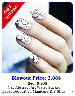nail abstract art water sticker paper decoration manicure diy stick animal deca