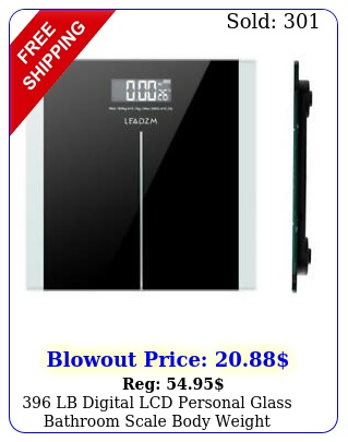 lb digital lcd personal glass bathroom scale body weight weighing scales k