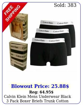 calvin klein mens underwear black pack boxer briefs trunk cotton stretc